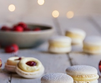 Cranberry & White Chocolate Macarons