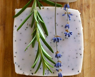 How to make Lavender & Rosemary Scrubby Hand Soap