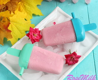 Home made Rose milk Popsicle | Rose Milk Popsicle