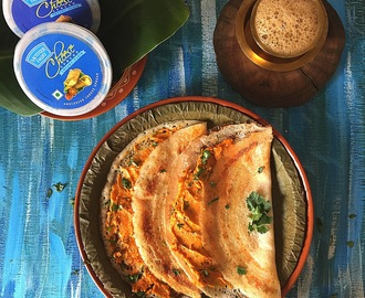 Cheese Podi Dosai Recipe | Cheesy Podi Dosai Recipe by Masterchefmom brought to you by Mother Dairy Cheese Spread
