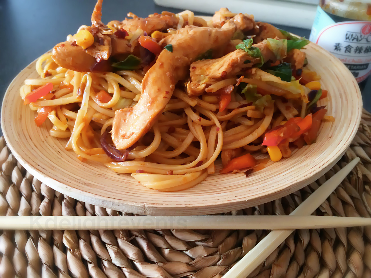 Chinese Style Chicken and Noodle Stir Fry