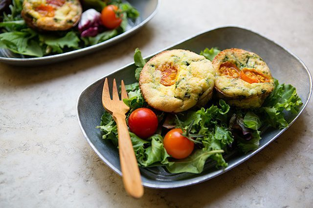 Spinach and Tomato Frittata for an Easy Egghead School Lunch