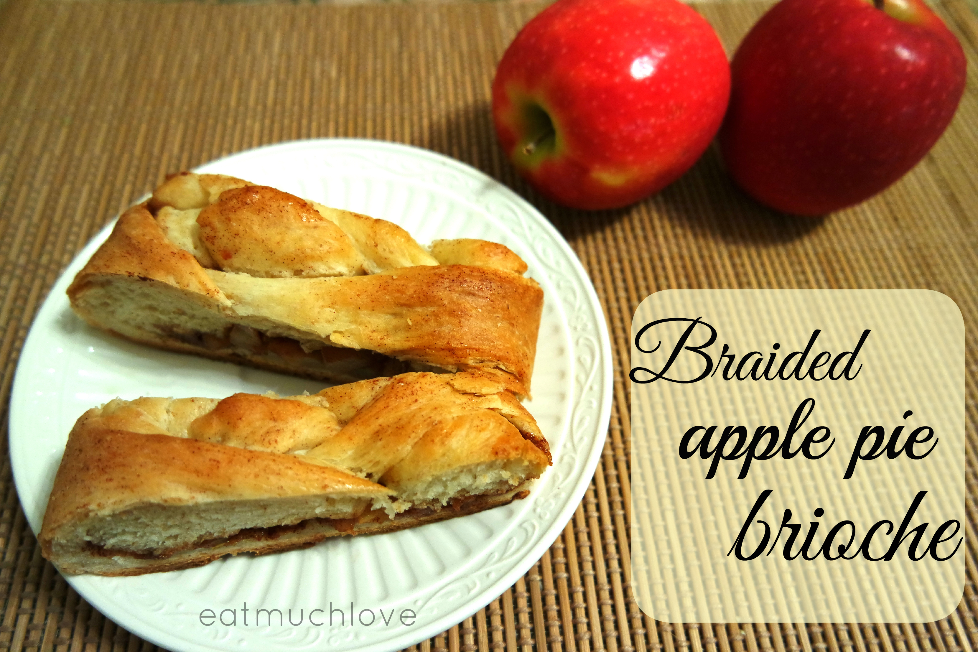 Braided apple cinnamon brioche