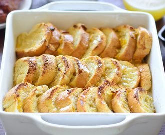 Sunday Brunch: Overnight Lemon-Glazed French Toast Bake