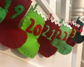How to make a Felt Christmas Stocking Advent Calendar