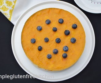 Mango Mascarpone Cheesecake with a hint of Cardamom