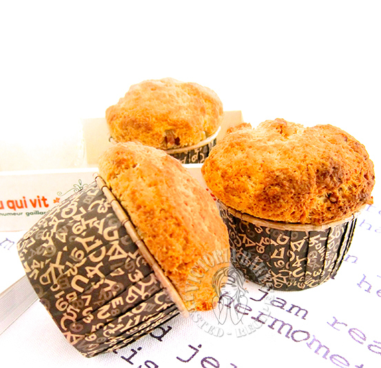 mushroom head lemon walnut muffin 蘑菇头柠檬核桃麦芬