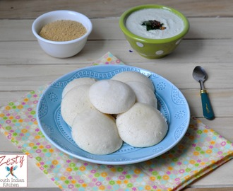 Idli/Steamed Rice and split black gram cake