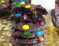 Chewy Brownie Cookies with M&M's