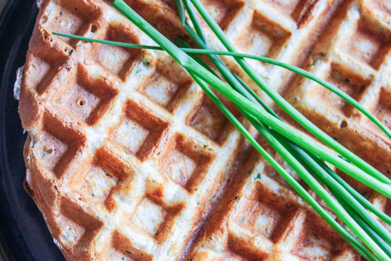 Anna's Waffles with Chives