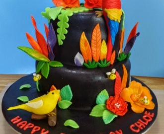 Parrot and Canary cake