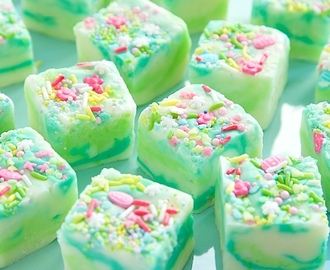 Lemon and White Chocolate Spring Fantasy Fudge