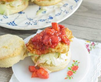 Fried Chicken and Spicy Plum Chutney Sliders