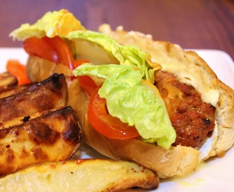 Baked Brie 'Burger-Dogs' with Homemade Zingy Burger Sauce
