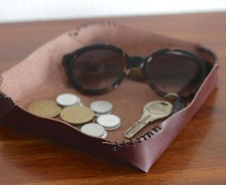 DIY Leather Catchall for Father's Day