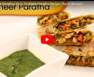 Paneer Bhurji Paratha Recipe Video