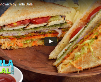 Veg Club Sandwich Recipe Video