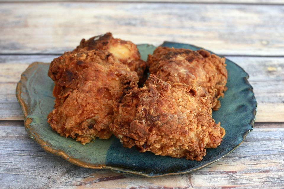 Crispy Oven Fried Chicken Thighs or Legs