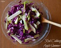 Red Cabbage & Apple Summer Slaw {Gluten Free & Vegan}