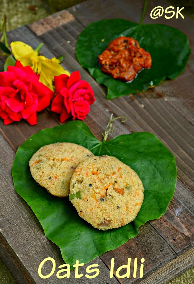 Instant Oats Idli - Instant Breakfast Series - Step by step