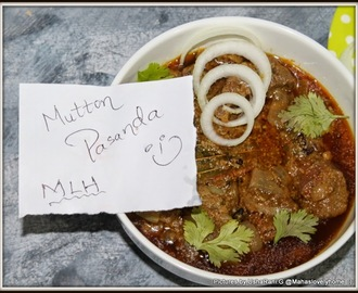 Mutton Pasanda | How to Make Mutton Pasanda | Gosht Pasanda with step by step pictures | curry | Easy Mutton Gravies | Easy Gosht Curries