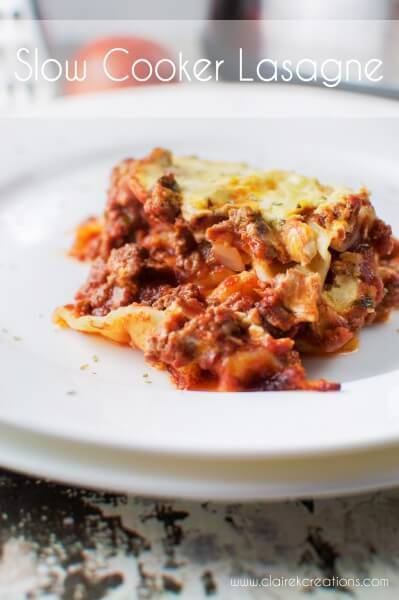 Slow cooker lasagne and easy quick homemade garlic bread