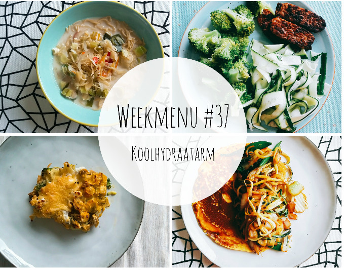 Weekmenu #37 – Koolhydraatarm