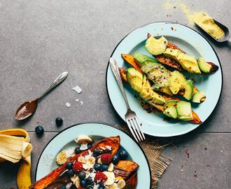 Baked Sweet Potatoes 2 Ways!