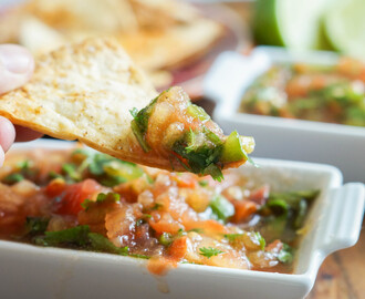 A Modern Way to Eat Cookbook Review and Homemade Tortilla Chips with Charred-Chile Salsa