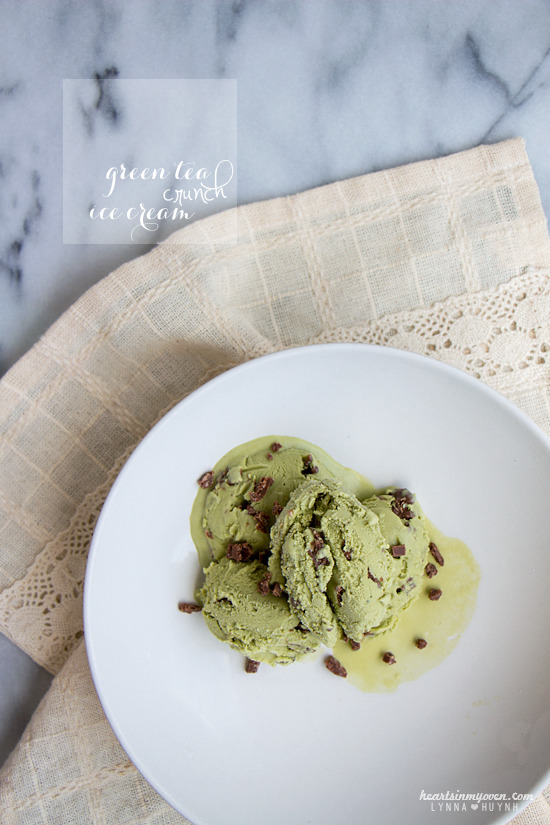 Green Tea Crunch Ice Cream