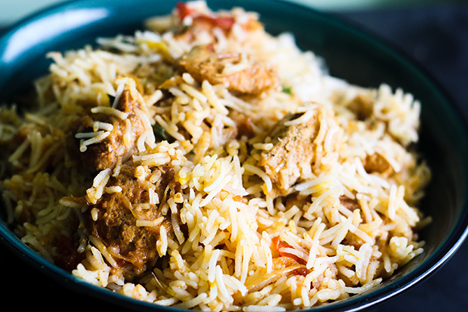 Chicken Tikka Biryani Recipe, How to make Chicken Tikka Biryani
