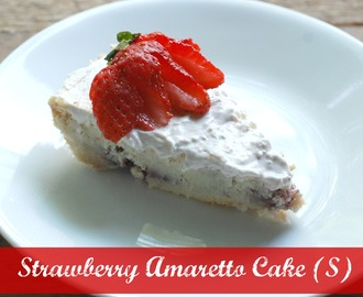 Strawberry Amaretto Cake~ Gluten Free, THM S