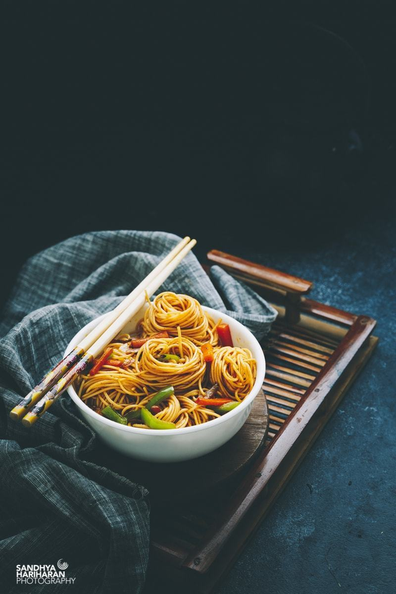 Indo Chinese Vegetable Noodles