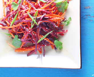Carrot and Beet Salad with Ginger Vinaigrette