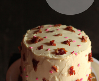Overly Manly Man Cake: Dunkel Beer and Bacon Cake with Salted Caramel Filling and Maple Syrup Buttercream Frosting