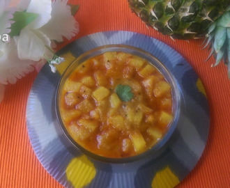 Pineapple Subji /Annasipazha Subji /Side dish for chappathi
