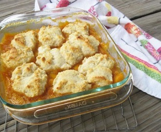 Old Fashioned Peach Cobbler #HotSummerEats