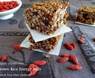 Vegan, No Oats No Bake Gluten Free Cereal Bars (nut free option)
