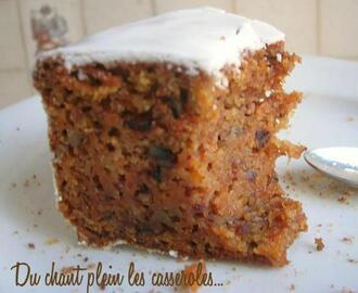 Carrot cake ultra-fondant et son glaçage au cream cheese