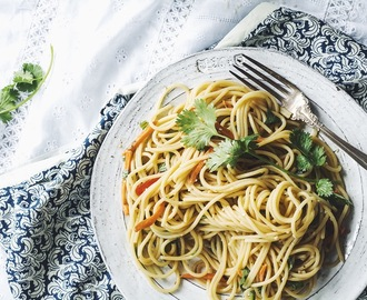 Spicy Asian Peanut Noodles