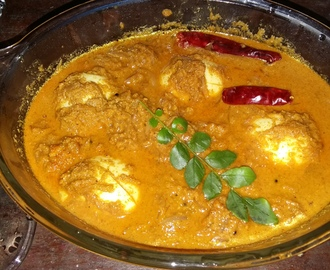 egg curry with fried coconut