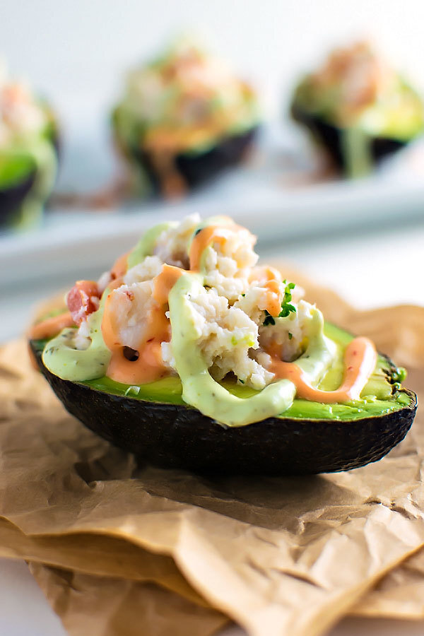 Seafood Stuffed Avocados
