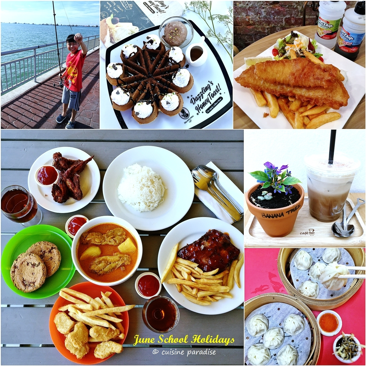 [June School Holidays: Week 1] Fishing, Cafe Hopping and Food Hunt