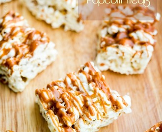 Salted Caramel Marshmallow Popcorn Treats