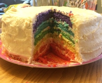 Happy Pride Parade Day! Celebrate with Rainbow Cake