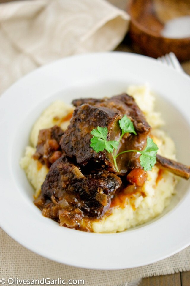 Red Wine Braised Beef Short Ribs