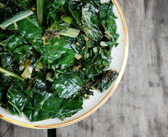 Braised Kale with Lemon and Anchovies