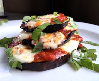 Grilled & Baked Eggplant Pizza Towers with Fresh Mozzarella & Basil Chiffonade – A CONTEST! – and Downtown Los Angeles!