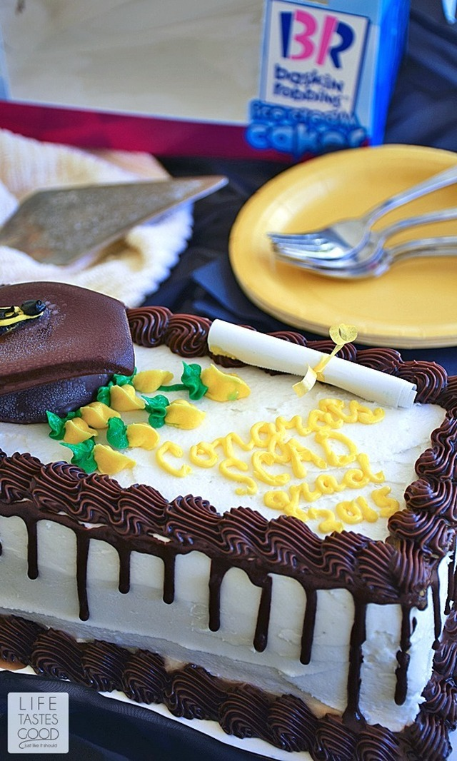 Graduation Ice Cream Cake
