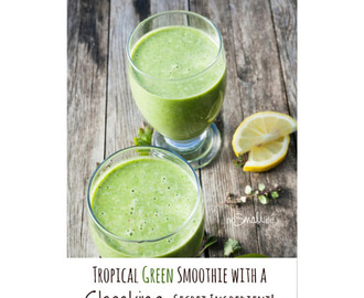 Tropical Green Smoothie with a Shocking Secret Ingredient!